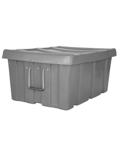 "Myton 31"" x 22"" x 15"" Ribbed Wall Container Heavy Duty Gray"