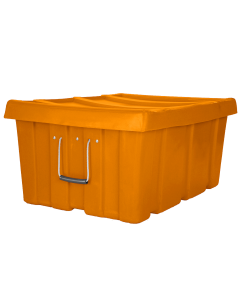 "Myton 31"" x 22"" x 15"" Ribbed Wall Container Heavy Duty Orange"