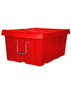 "Myton 31"" x 22"" x 15"" Ribbed Wall Container Heavy Duty Red"