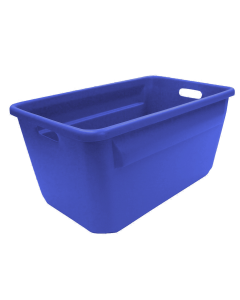 "Plastic Tote-All Boxes 24"" x 14"" x 12"" Blue"