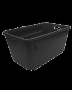 "Plastic Tote-All Boxes 24"" x 14"" x 12"" Black"