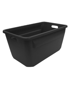 "Plastic Tote-All Boxes 25"" X 16"" X 12"" Black"