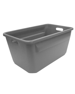"Plastic Tote-All Boxes 24"" x 14"" x 12"" Gray"