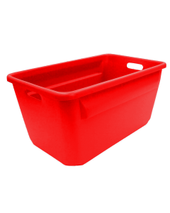 "Plastic Tote-All Boxes 25"" X 16"" X 12"" Red"