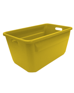 "Plastic Tote-All Boxes 24"" x 14"" x 12"" Yellow"