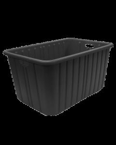 "Plastic Tote-All Boxes 34"" x 18"" x 15"" Black"