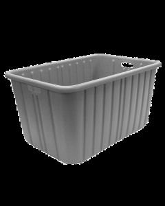 "Plastic Tote-All Boxes 34"" x 18"" x 15"" Gray"