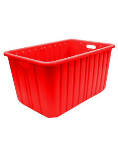 "Plastic Tote-All Boxes 34"" x 18"" x 15"" Red"