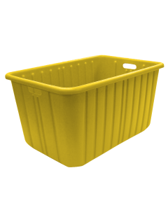"Plastic Tote-All Boxes 34"" x 18"" x 15"" Yellow"