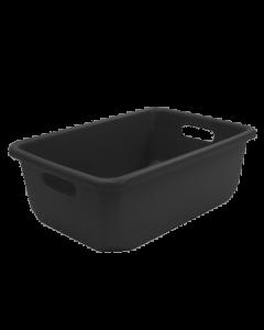 "Plastic Tote-All Boxes 18"" x 12"" x 6.5"" Black"