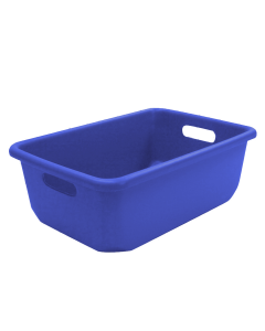 "Plastic Tote-All Boxes 18"" x 12"" x 6.5"" Blue"