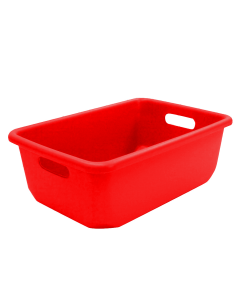 "Plastic Tote-All Boxes 18"" x 12"" x 6.5"" Red"