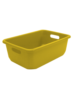"Plastic Tote-All Boxes 18"" x 12"" x 6.5"" Yellow"