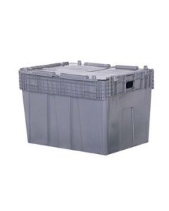 "Orbis 30"" x 22"" x 21"" Attached Lid Container - Gray"
