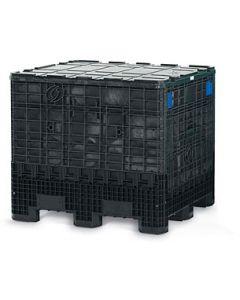 "General Purpose Container 40"" x 48"" x 50"" Color Black STR N/VENT 2 Door"
