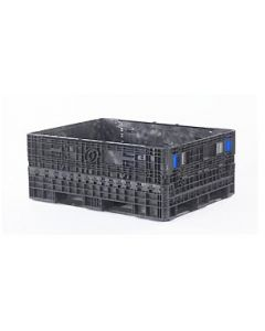 """Extended Length Container 62"""" x 48"""" x 25"""" Heavy Duty Vented Deck,  Color Black, 2 Door 48"""" Side Only"""