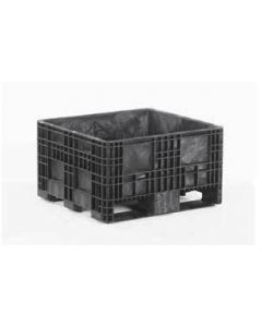 "Heavy Duty 32"" x 30"" x 18"" Container, Solid Deck, Fixed Walls"