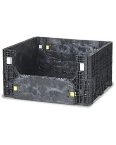 "Heavy Duty Bulk Container 40"" x 48"" x 29"", Solid Base, Doors on 48"" Sides"