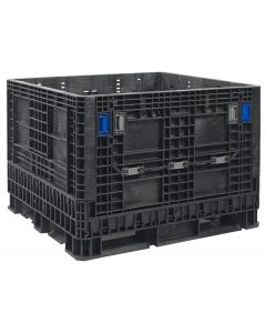 "Heavy Duty Bulk Container 48"" x 45"" x 34"", Vented Deck, Doors on 48"" Sides - 1 Ton Capacity"