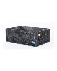 "Heavy Duty Extended Length Bulk Container 70"" x 48"" x 25"", Solid Deck, Doors on 48"" Sides"
