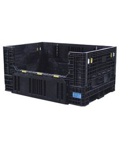 "Heavy Duty Extended Length Bulk Container 70"" x 48"" x 34"", Solid Deck, Doors on 48"" Sides"
