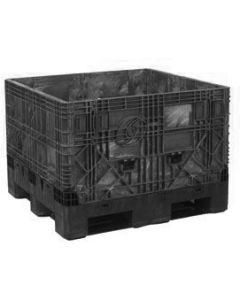 """Heavy Duty Bulk Container 48"""" x 45"""" x 34"""", Solid Deck, Doors on 48"""" Sides"""
