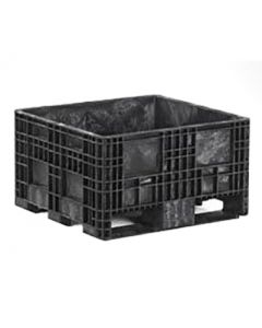 "Heavy Duty Bulk Container 32"" x 30"" x 18"", Solid Deck, Fixed Walls"