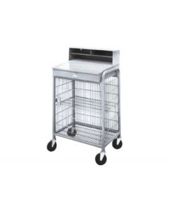 Steel & Wire Mesh Mobile Receiving Desk