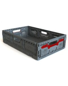 "Foldable 24"" x 16"" x 6"" Crate - Gray"