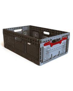"Foldable 24"" x 16"" x 9"" Crate - Gray"