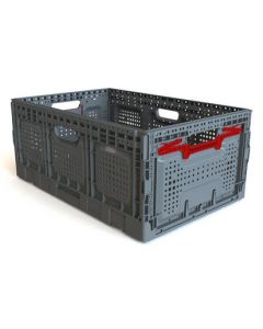 "Foldable 24"" x 16"" x 10"" Crate - Gray"