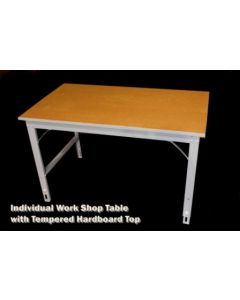 "Ted Thorsen Individual Workshop Table with 24"" x 48"" X 1"" Tempered Hardboard Work Surface"