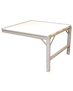 "Ted Thorsen Add-on Extension Table with 24"" x 48"" X 1"" White Laminated Surface"