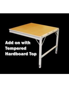 "Ted Thorsen Add-on Extension Table with 42"" x 48"" X 1"" Tempered Hardboard Surface"