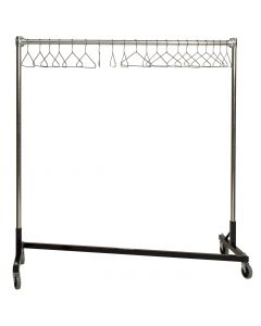 "Ted Thorsen ""Z"" Design Nesting Garment Rack - Single Rail - 5' Base x 5' Uprights (63""  x 23"" x 67"")"
