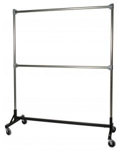 "Ted Thorsen ""H"" Design Garment Rack - Double Rail - 5' Base x 6' Uprights  (63"" x 23"" x 79"")"