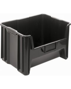 "Quantum Giant Stack Container  Black 15-1/4"" x 19-1/8"" x 12-7/16"""
