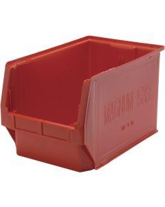 """Quantum Open Hopper Magnum Bins 19-3/4"""" x 12-3/8"""" x 11-7/8"""" Red"""