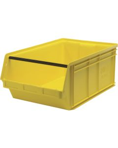 "Quantum Open Hopper Magnum Bins 29"" x 18-3/8"" x 11-7/8"" Yellow"