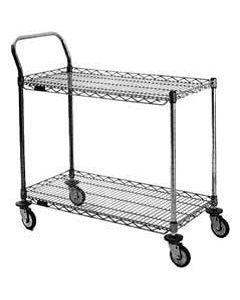 "Eagle Group RediPak® 2- Shelf Chrome Utility Cart 18"" x 36"" x 36"""