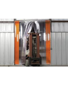 Wesco 10' W x 10' H Ribbed Heavy Duty Easy Mount Strip Door