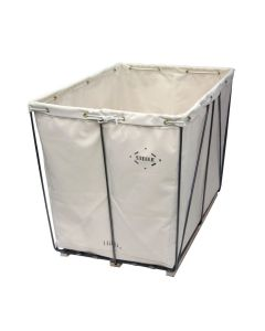 Steele Canvas 10 bu.  White Removable Liner Canvas Basket