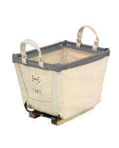 Steele Canvas 2 bu. White Canvas Carry Basket