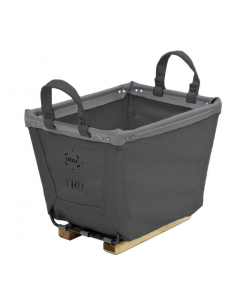 Steele Canvas 4 bu. Gray Vinyl Carry Basket