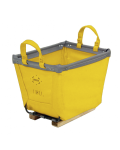 Steele Canvas 2 bu. Yellow Vinyl Carry Basket