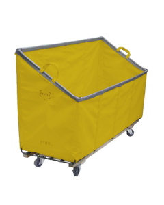 Steele Canvas 31 bu. Yellow Vinyl Slant Front Truck