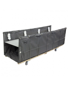 "Steele Canvas 24"" x 28"" Gray Vinyl Open-Front Sheet Feed Truck"