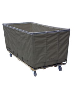 Steele Canvas 28 bu. Gray Vinyl Extractor Truck