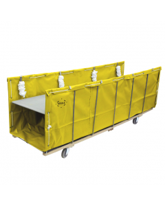 "Steele Canvas 24"" x 24"" Yellow Vinyl Open-Front Sheet Feed Truck"