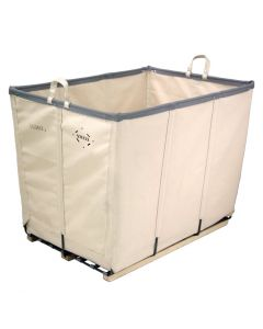 Steele Canvas 6 bu. White Permanent Style  Canvas Basket